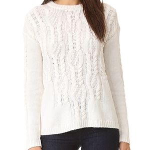 Rails Simone Cable Knit Wool & Cashmere Sweater XS